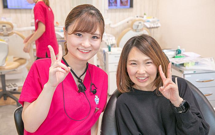 笑顔の患者様とドクター
